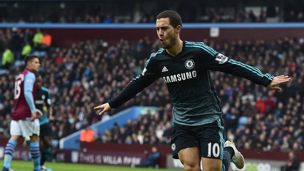 Eden Hazard celebrando un gol