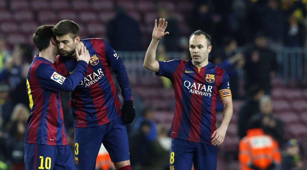Messi Pique e Iniesta