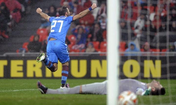Quagliarella celebrando un gol