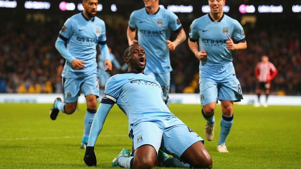 Yaya Toure celebrando un gol