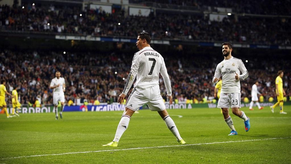 Cristiano Ronaldo celebrando su gol