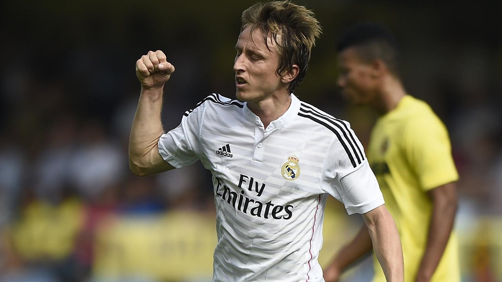 Luka Modric celebrando un gol