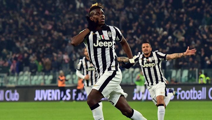Paul Pogba celebrando un gol