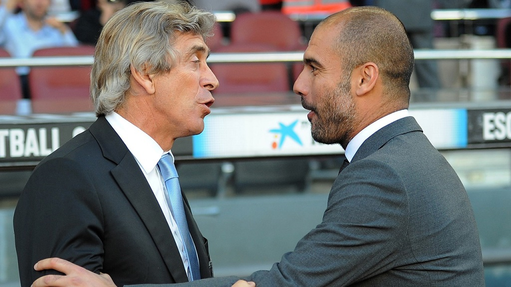 Pep Guardiola y Manuel Pellegrini