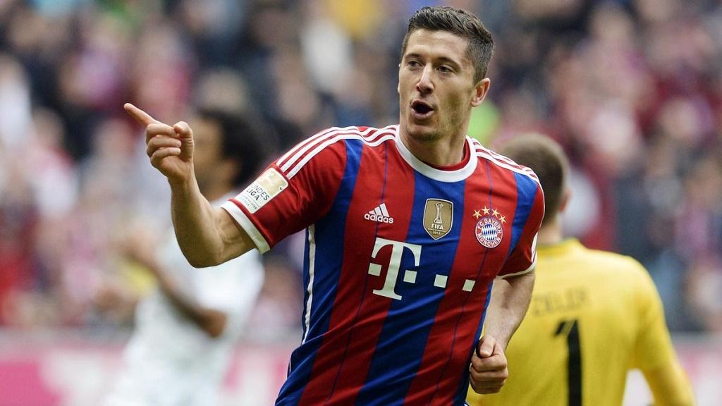 Robert Lewandowski celebrando un gol
