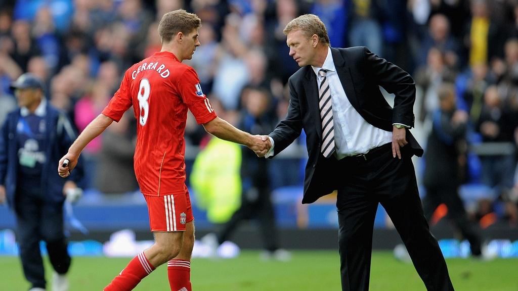 Steven Gerrard y David Moyes