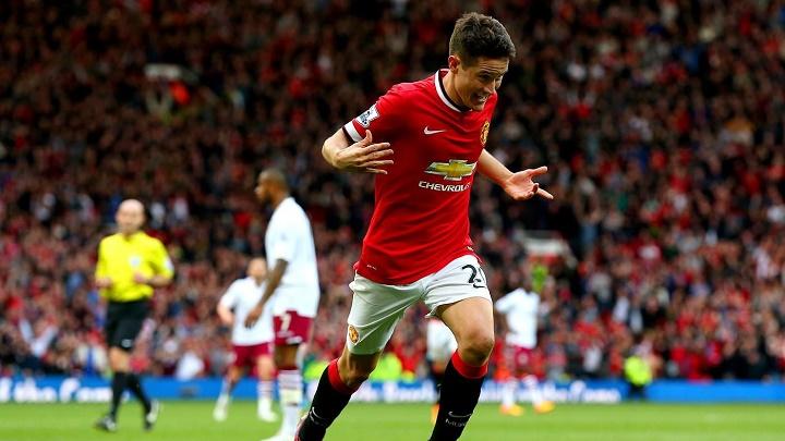 Ander Herrera celebrando un gol