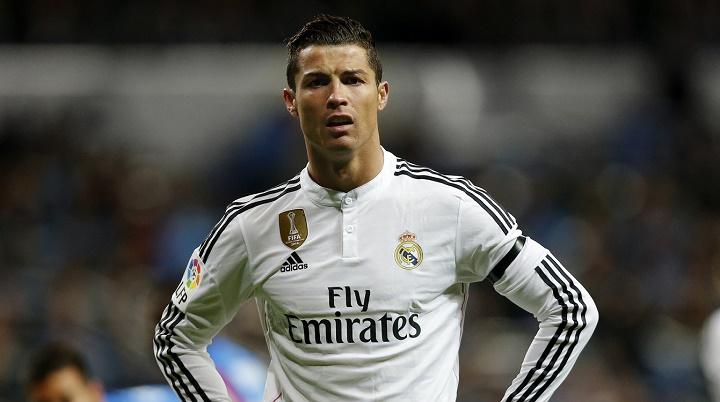 Cristiano Ronaldo enfadado