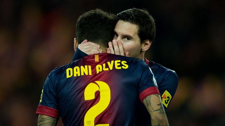 Dani Alves y Leo Messi secretos