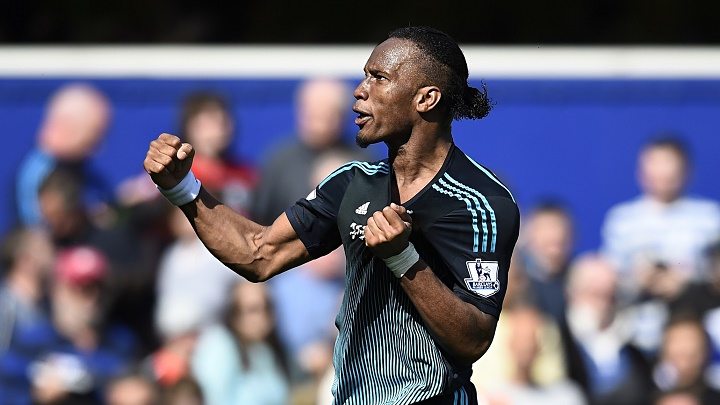 Didier Droga celebrando un gol