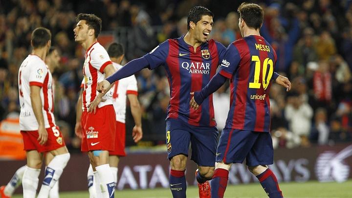 Luis Suarez y Leo Messi