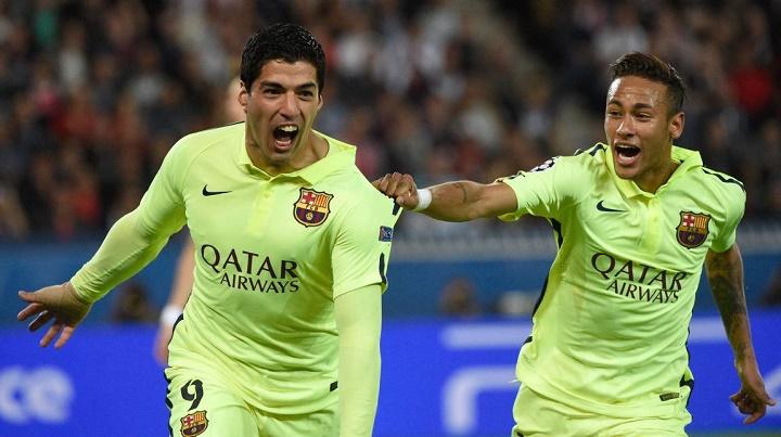 Luis Suarez y Neymar