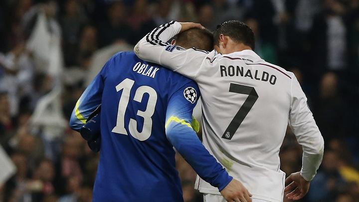 Cristiano Ronaldo y Jan Oblak