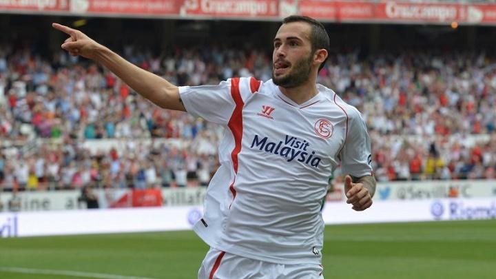 Aleix Vidal celebrando un gol