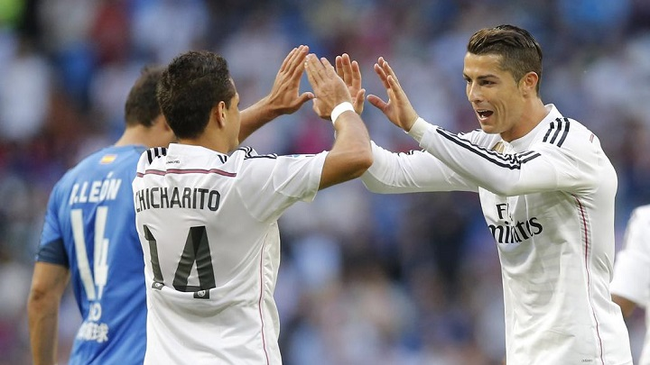Chicharito y Cristiano