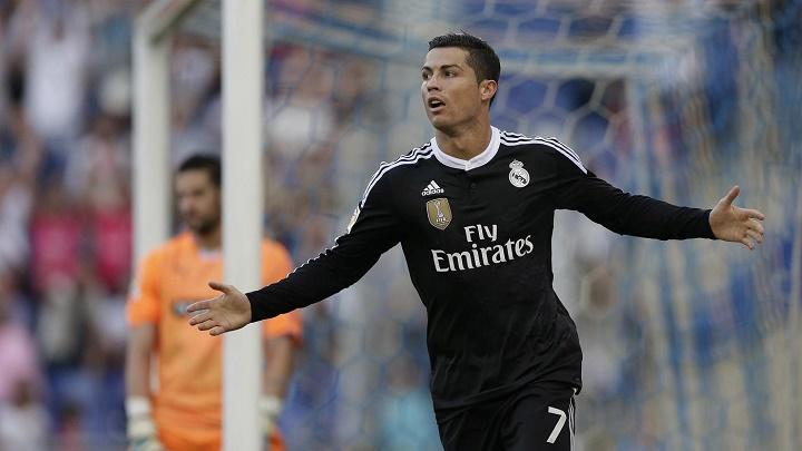 Cristiano Ronaldo celebrando un gol ante el Espanyol