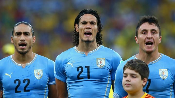 Edinson Cavani con Uruguay