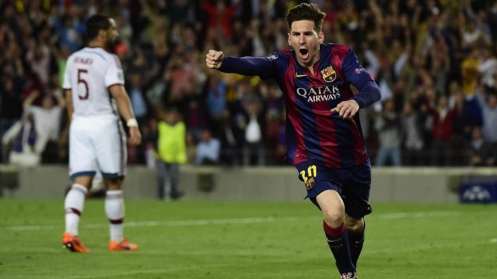 Leo Messi celebrando un gol