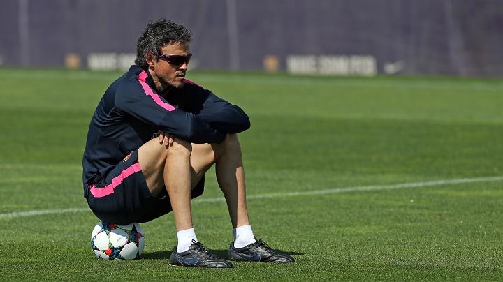 Luis Enrique en un entrenamiento