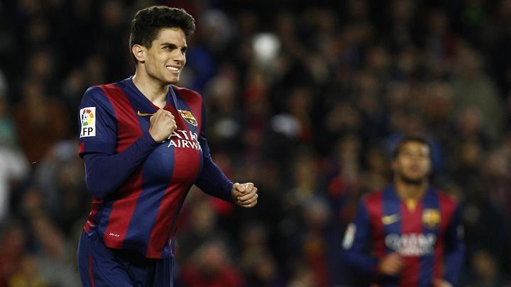 Marc Bartra celebrando un gol