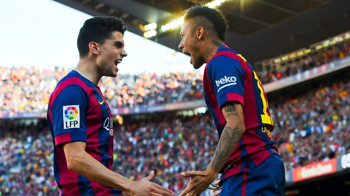 Marc Bartra y Neymar