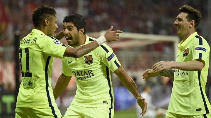Neymar Messi y Suarez