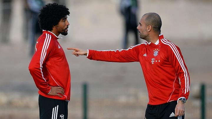 Pep Guardiola y Dante
