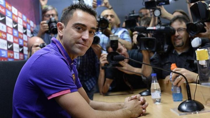 Xavi Hernandez rueda de prensa