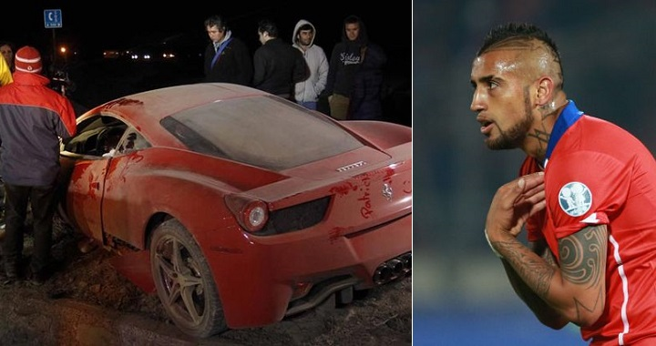 arturo vidal accidente