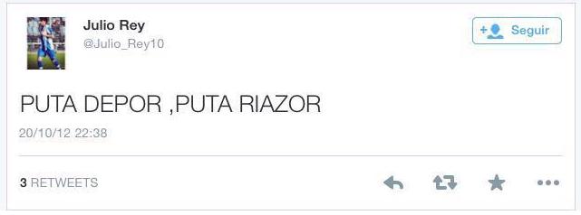 Julio Rey tuit