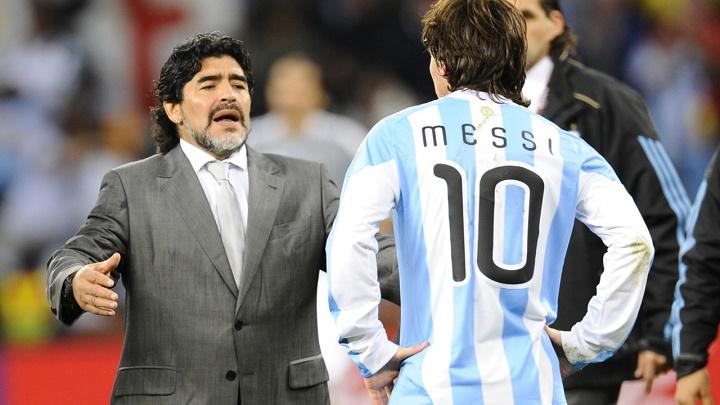 Maradona y Messi 2