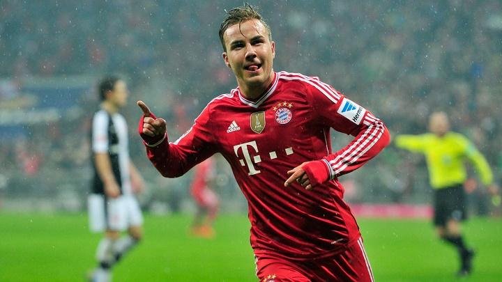 Mario Götze celebrando un gol