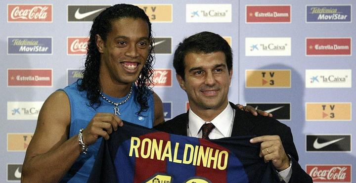 Ronaldinho y Laporta