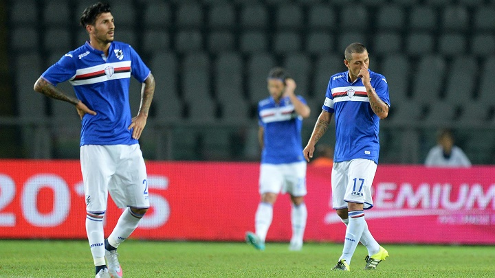 jugadores de la Sampdoria