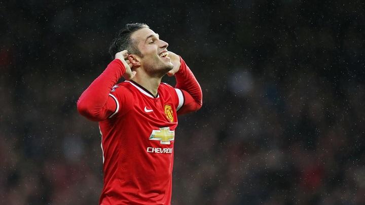 Van Persie celebrando un gol