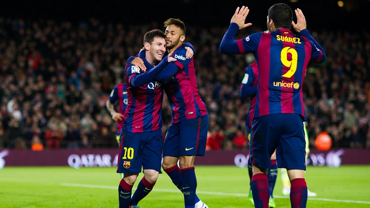 Messi Neymar y Suarez