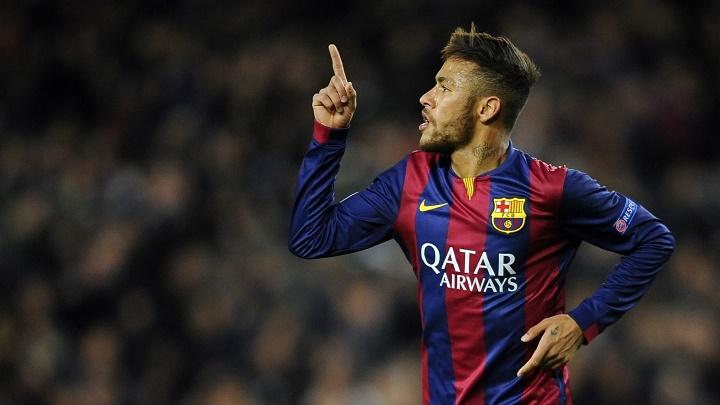 Neymar celebrando un gol