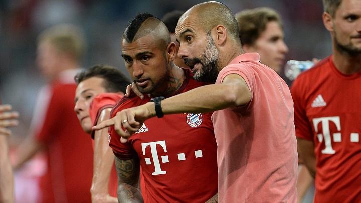 Guardiola y Arturo Vidal