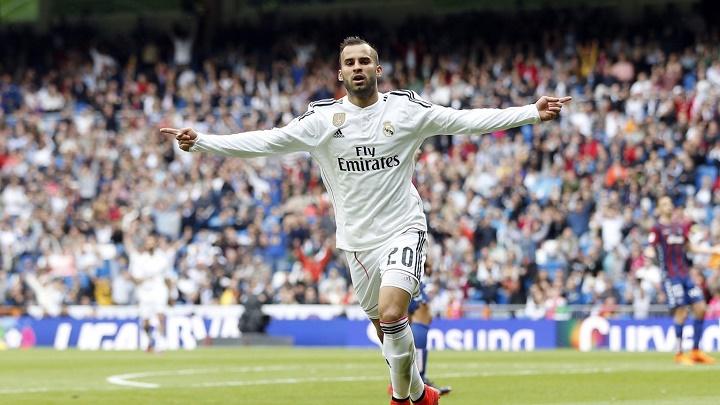Jese Rodriguez celebrando un gol