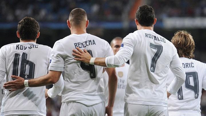 Kovacic Benzema y Cristiano