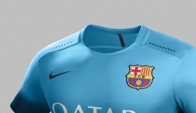 camiseta Nike Barcelona azul electrico 1