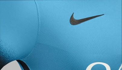 camiseta Nike Barcelona azul electrico 2