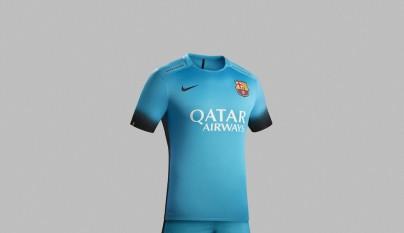 camiseta Nike Barcelona azul electrico 3