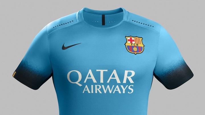 camiseta Nike Barcelona azul electrico 4