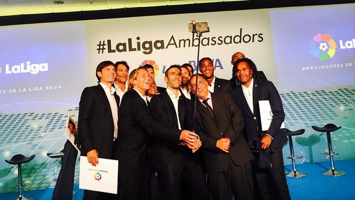 embajadores La Liga selfie