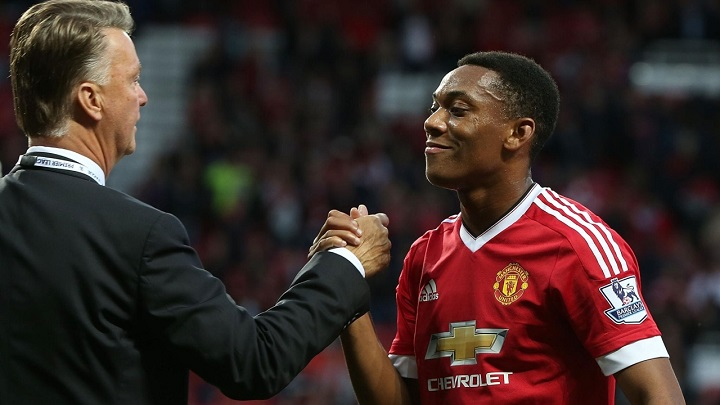 Anthony Martial y Van Gaal