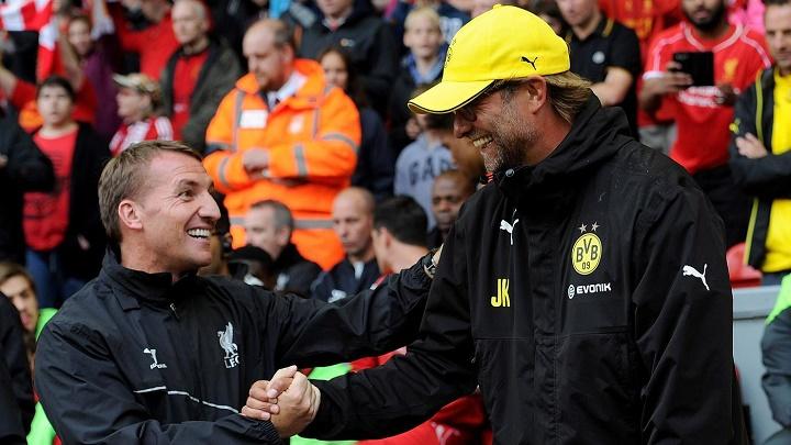 Brendan Rodgers y Jurgen Klopp