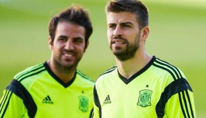 Gerard Pique y Cesc