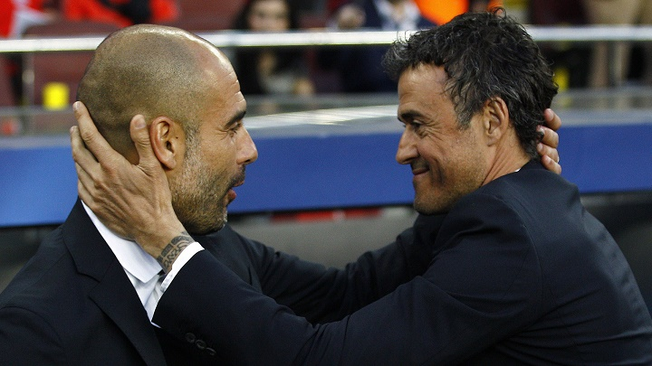 Guardiola y Luis Enrique