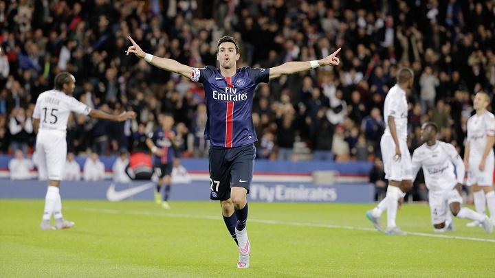 Javier Pastore celebrando un gol